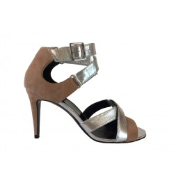 pierre hardy promotions sandales Sandales FlaviaPHF SAND FLAVIA T8 - NUBUCK - NU