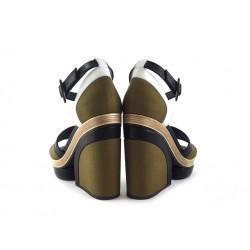 pierre hardy promotions sandales Sandales CompenséesPHF SAND BLOC T8 - CUIR ET TOILE