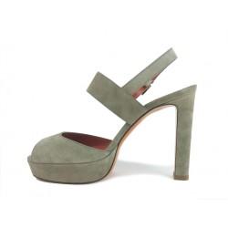 santoni sandales Sandales OliviaOLIVIA T9 - NUBUCK - TAUPE