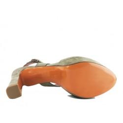 santoni promotions sandales Sandales OliviaOLIVIA T9 - NUBUCK - TAUPE