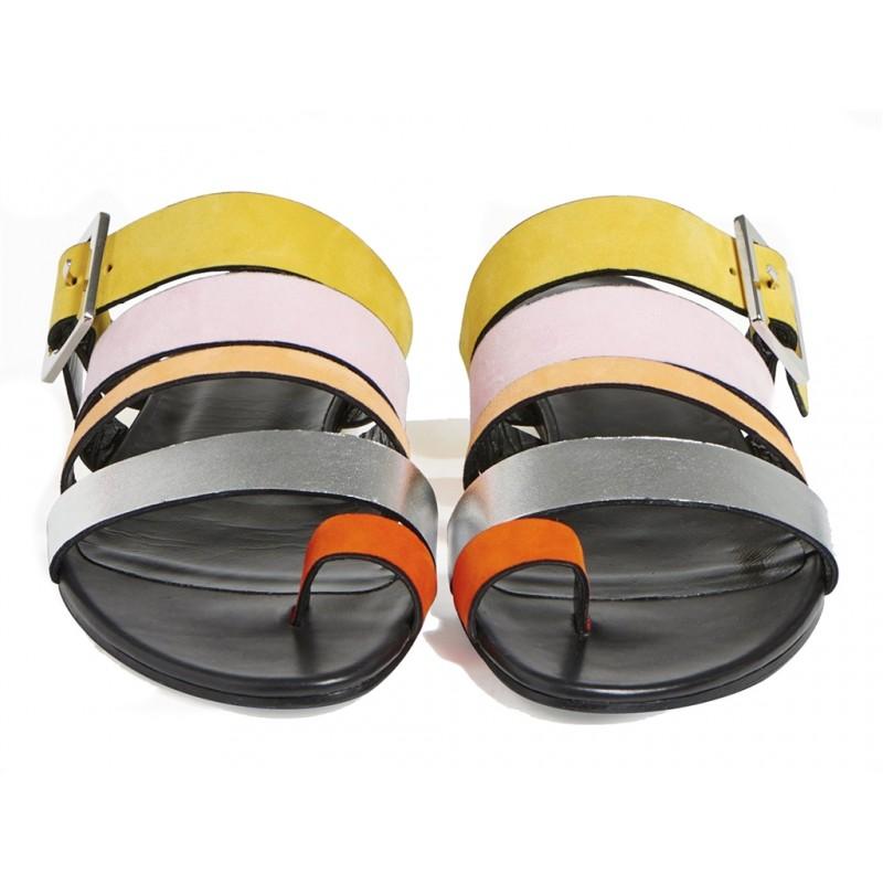 pierre hardy sandales Sandales DaniPHF DANI MULE MULTI - CUIR ET NU