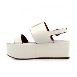 santoni sandales Sandales NiviNIVI - CUIR - BLANC