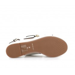 santoni promotions sandales Sandales NiviNIVI - CUIR - BLANC