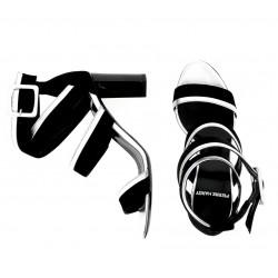 pierre hardy promotions sandales Sandales AlphaPHF ALPHA SAND T8 - CUIR ET NUBU