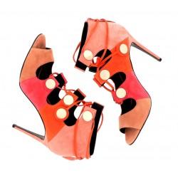 pierre hardy promotions sandales SandalesPHF PEEP PENNY T10 - NUBUCK - RO
