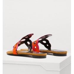 pierre hardy promotions sandales Sandales SaloniPHF SALONI MULE - NUBUCK - FUCHS