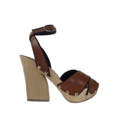 sonia rykiel promotions sandales SandalesRY SAND BOIS T10 - CUIR - NATURE