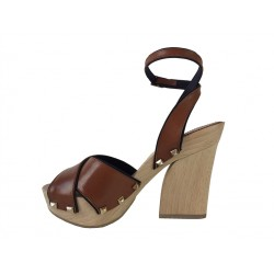 sonia rykiel promotions sandales SandalesRY SAND BOIS T10 - CUIR - NATURE