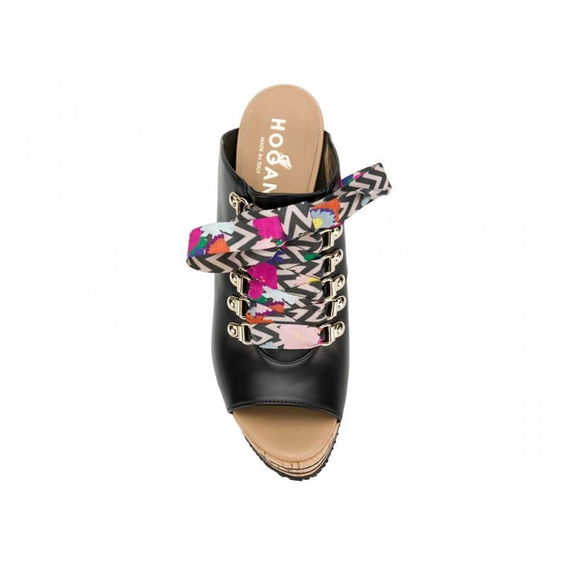 hogan sandales Sandales CompenséesPIETRA - CUIR - NOIR