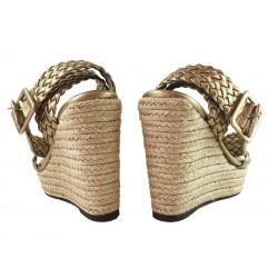 sonia rykiel promotions sandales Sandales CompenséesRY COMP TRESSE - CUIR TRESSÉ - B