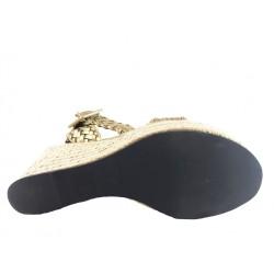 sonia rykiel sandales Sandales CompenséesRY COMP TRESSE - CUIR TRESSÉ - B