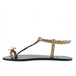 sonia rykiel promotions sandales SandalesRY NU PIED BAGUE - CUIR - BRONZE