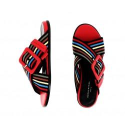 Sonia Rykiel promotions sandales Sandales PavéRY MULE PAVE - CUIR ET TISSUS -