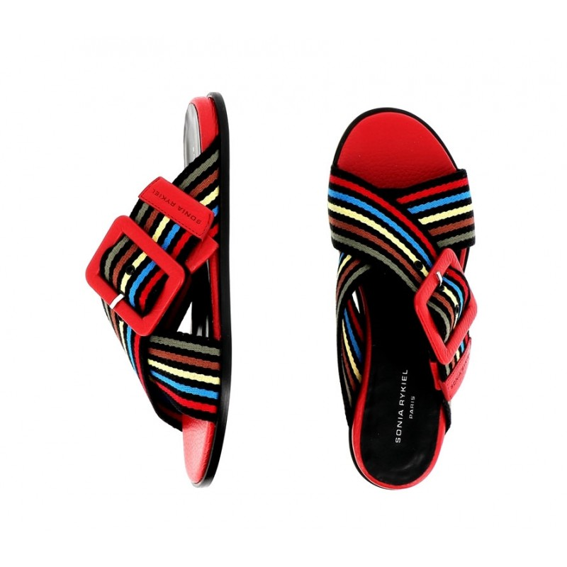 sonia rykiel sandales Sandales PavéRY MULE PAVE - CUIR ET TISSUS -