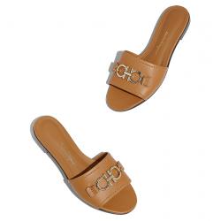 salvatore ferragamo nouveautés sandales Sandales RhodesSF MULE RHODES - CUIR - BEECHNUT