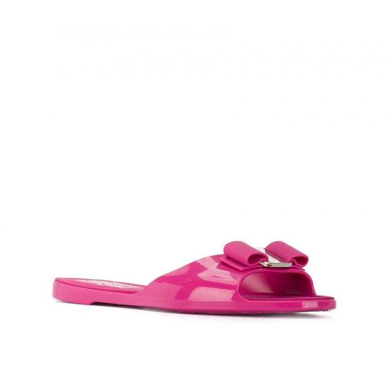 salvatore ferragamo sandales Flip FlopSF NU PIED PVC - PVC - FUCHSIA E