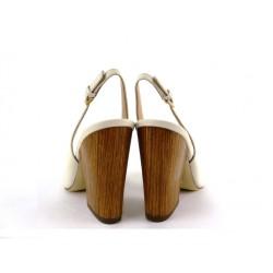 sergio rossi promotions sandales Sandales à talon 90 mmSR BT OUV T9 - CUIR - BLANC