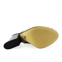 sergio rossi promotions sandales Sandales à talon 90 mmSR BT OUV T9 - CUIR - MÉTAL