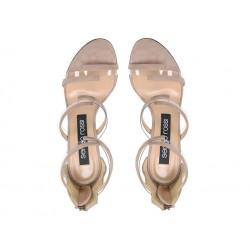 sergio rossi sandales Sandales à talon 100 mmSR SAND VINYL T10 - NUBUCK - NUD