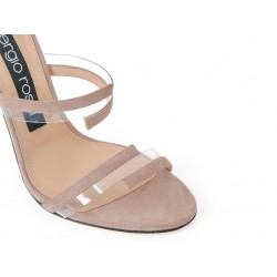 sergio rossi promotions sandales Sandales à talon 100 mmSR SAND VINYL T10 - NUBUCK - NUD