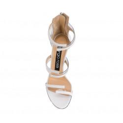 sergio rossi promotions sandales Sandales à talon 100 mmSR SAND VINYL T10 - CUIR - BLANC