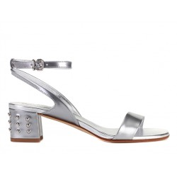 tod's promotions sandales SandalesSOPICOT T5 - CUIR - ARGENT