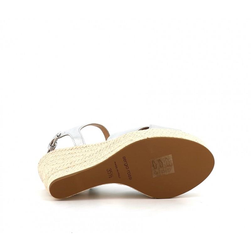 sergio rossi sandales Sandales Pantelleria à talon 75 mmSR COMP CROISE T75 - CUIR - ARGE