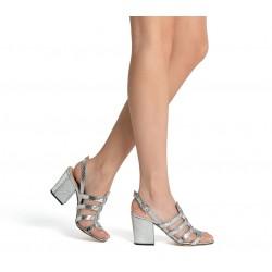 sergio rossi sandales Sandales à talon 70 mmSR SAND LANIERE T7 - CUIR - ARGE