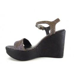 stuart weitzman promotions sandales Sandales CompenséesSW SINGLE T6,5 - STRASS - PYRITE