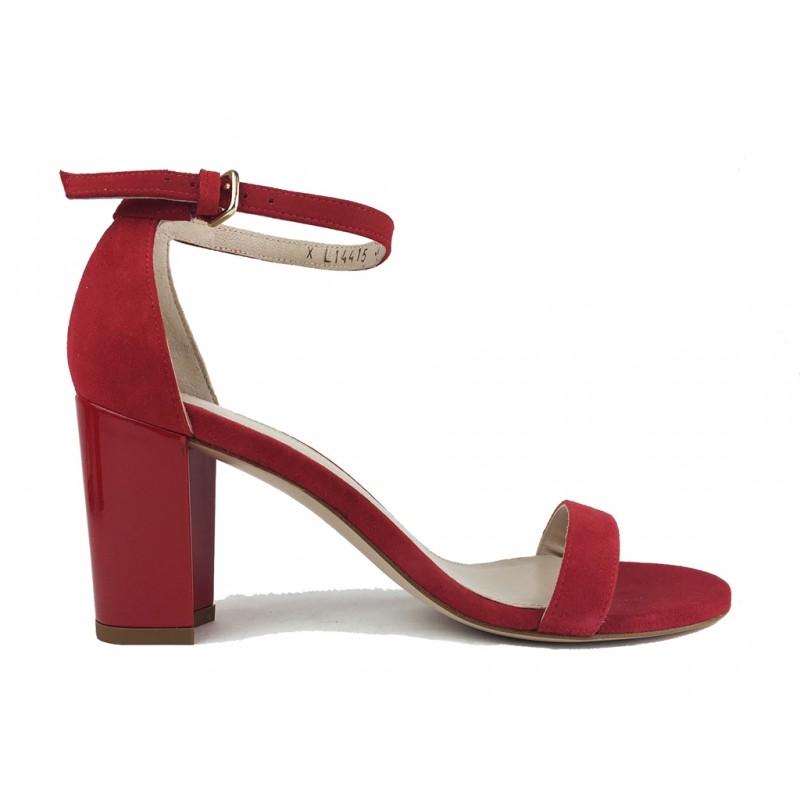 stuart weitzman promotions sandales Sandales NearlynudeSW NEARLYNUDE - NUBUCK - ROUGE