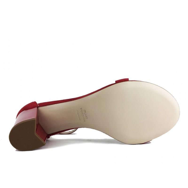 stuart weitzman sandales Sandales NearlynudeSW NEARLYNUDE - NUBUCK - ROUGE