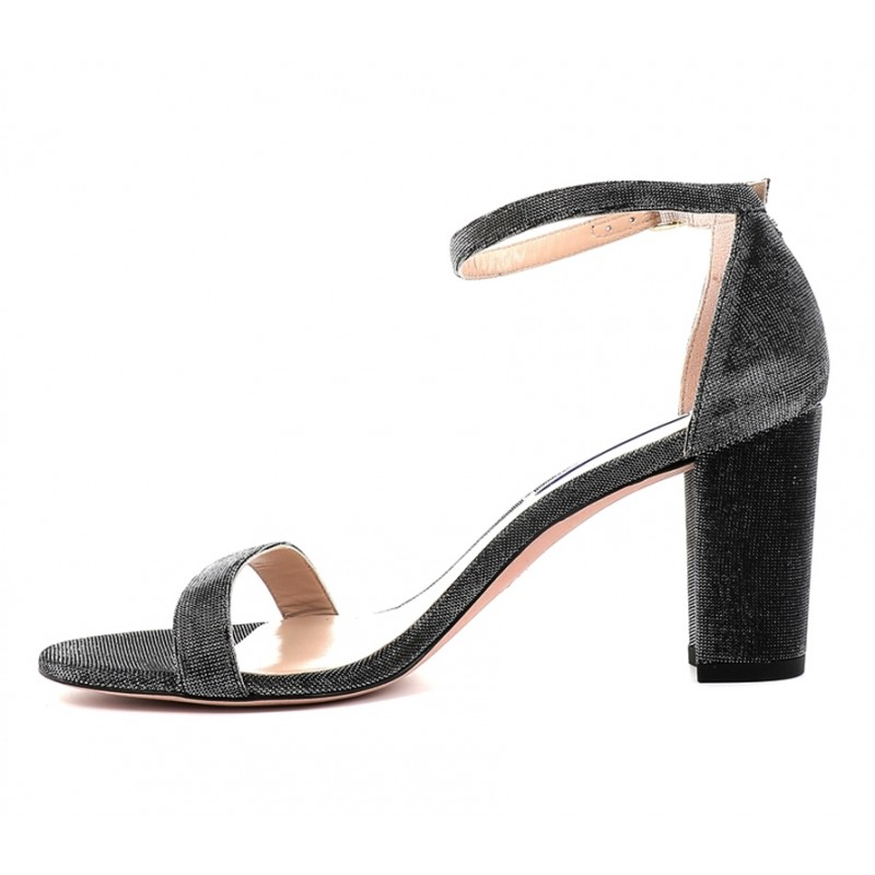 stuart weitzman sandales Sandales NearlynudeSW NEARLYNUDE - CUIR - PYRITE BL