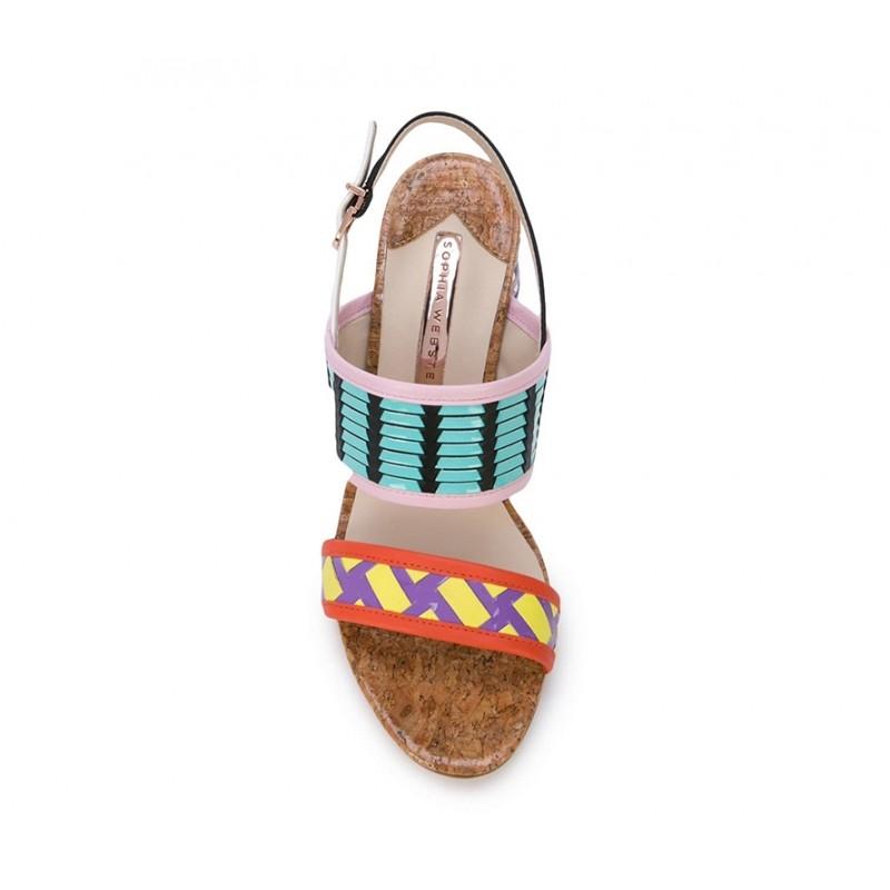 sophia webster sandales Sandales CeliaWEB CELIA SAND T85 - CUIR - MULT
