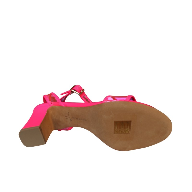 tabitha simmons sandales SandalesTS LETICIA FRILL T75 - CUIR GOMM