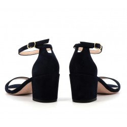 stuart weitzman promotions sandales SandalesSW SIMPLE T5,5 - NUBUCK - MARINE