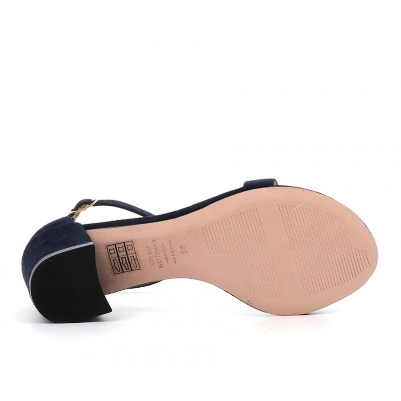 stuart weitzman sandales SandalesSW SIMPLE T5,5 - NUBUCK - MARINE