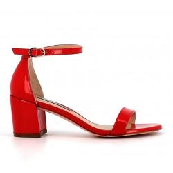 stuart weitzman promotions sandales SandalesSW SIMPLE T5,5 - VERNIS - ROUGE