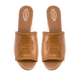 tod's nouveautés sandales SandalesTMULE - CUIR - COGNAC