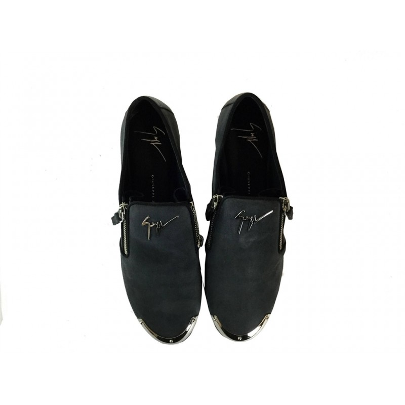 giuseppe zanotti mocassins & slippers LoaferGZ F LOAFER ZIP - NUBUCK - ANTHR