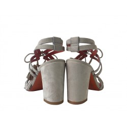 santoni promotions sandales SandalesZOE T85 - NUBUCK - GRIS