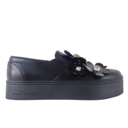 marc jacobs mocassins & slippers SlippersJAC SLIPPER FLEUR - CUIR - NOIR
