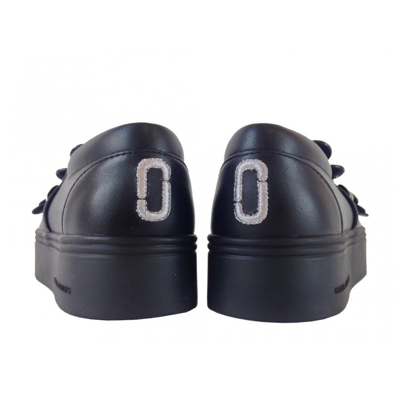 Marc Jacobs promotions mocassins SlippersJAC SLIPPER FLEUR - CUIR - NOIR