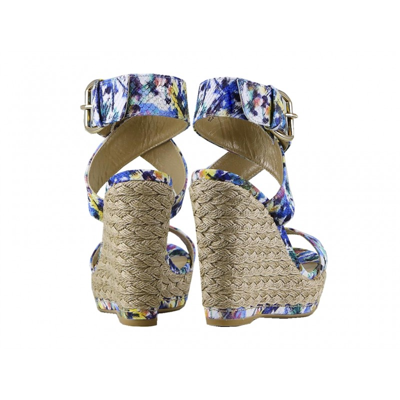 stuart weitzman sandales Sandales XrayXRAY T9 - CUIR IMPRIMÉ - FLEURI