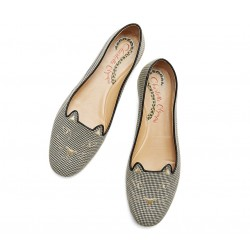 charlotte olympia promotions mocassins SlippersCO SLIPPER KITTY - TISSU - VICHY