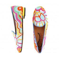 charlotte olympia mocassins & slippers Slippers LoveCO SLIPPER LOVE - TISSUS BRODE -