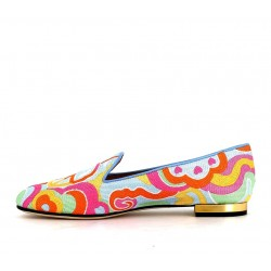 charlotte olympia promotions mocassins Slippers LoveCO SLIPPER LOVE - TISSUS BRODE -