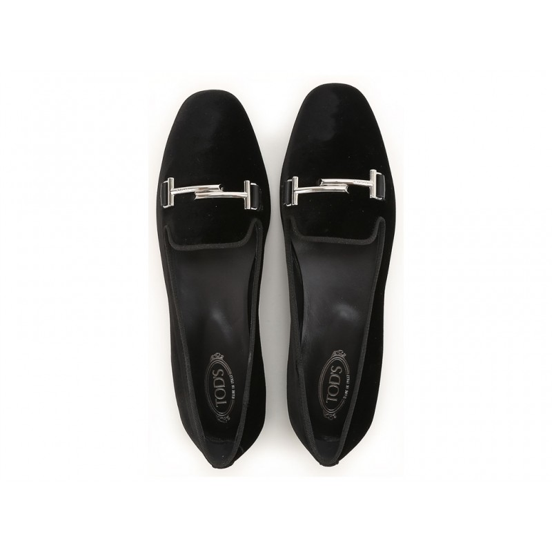 tod's promotions mocassins Slippers Double TTODTIE LOAFER 2 - VELOURS - NOIR