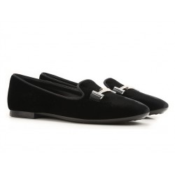 tod's mocassins & slippers Slippers Double TTODTIE LOAFER 2 - VELOURS - NOIR