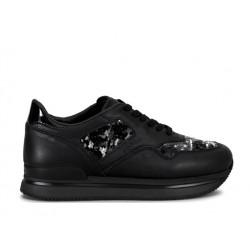hogan nouveautés sneakers Sneakers H222ELIUM - CUIR ET PAILLETTES - NOI