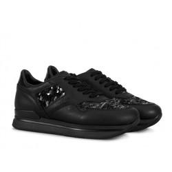 hogan sneakers Sneakers H222ELIUM - CUIR ET PAILLETTES - NOI